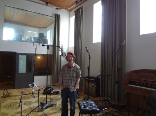Bib standing in the Sigur Ros Studio.