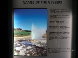 Name of the Geysirs
