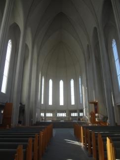 Inside Hallgrímskirkja