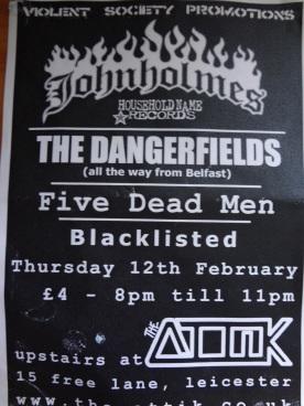 The Dangerfields - Leicester Attik Gig.