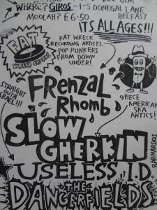 Frenzal Romb, Slow Gherkin, Useless ID and The Dangerfields