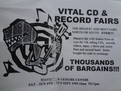 Flyer for Record Fair in Maysfield Leisure Centre