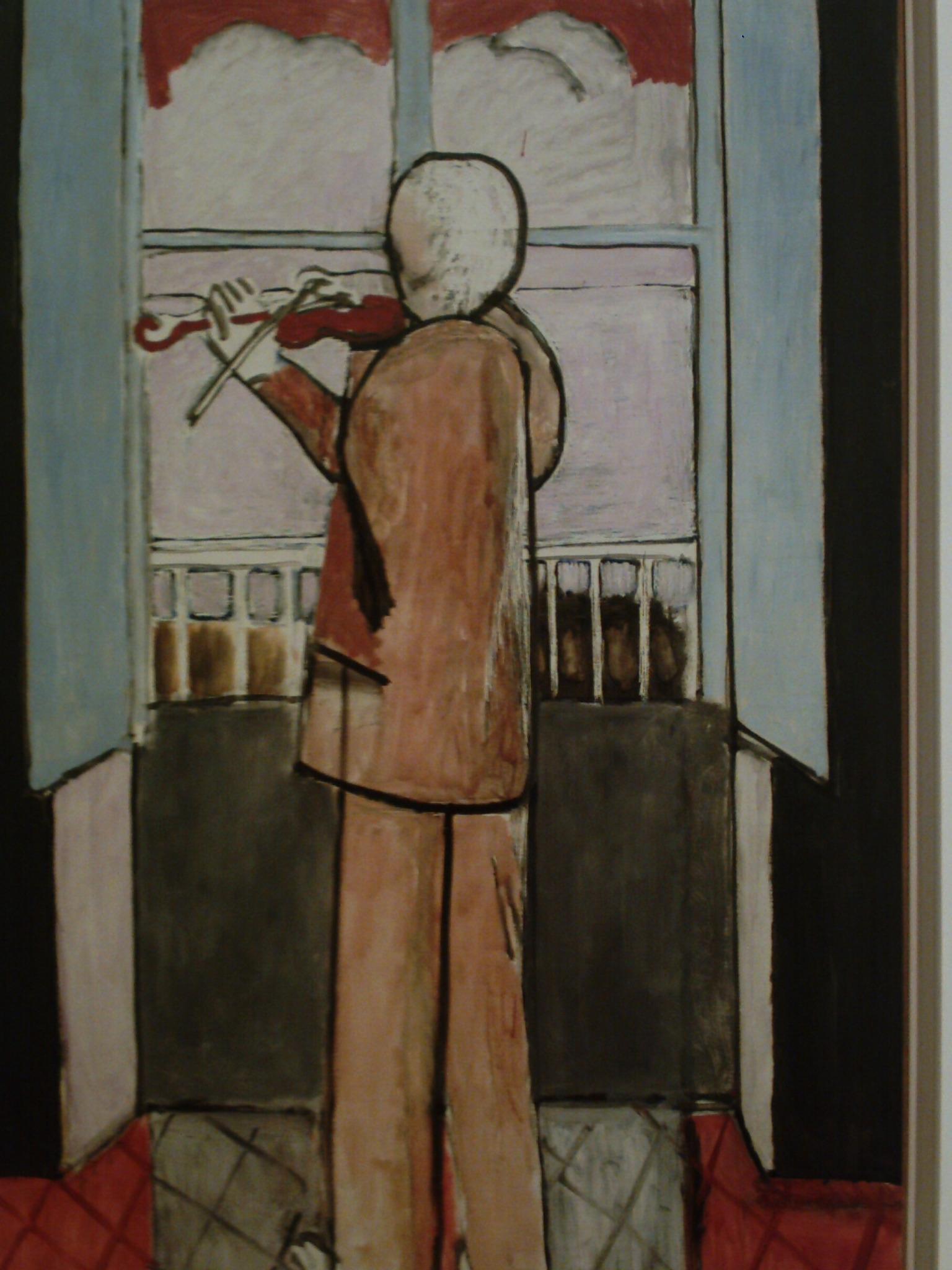 Music in art for Le violoniste a la fenetre henri matisse