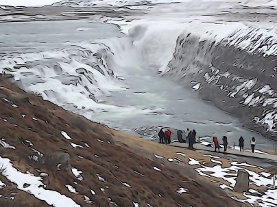 Gullfoss illustrated