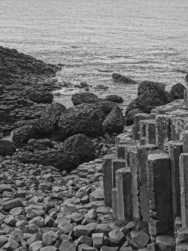 Notice the Hexagonal basalt stones...