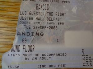 Rancid, Ulster Hall 2003.
