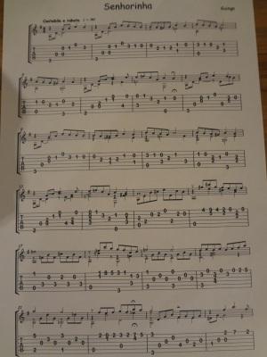 Senhorinha by Guinga, Grade 5 ABRSM Classical Guitar piece.