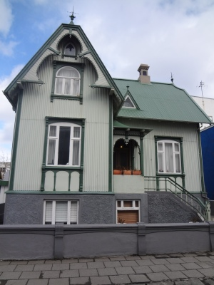 An Icelandic house.