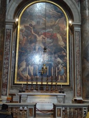 The Tomb of Pope John Paul II.