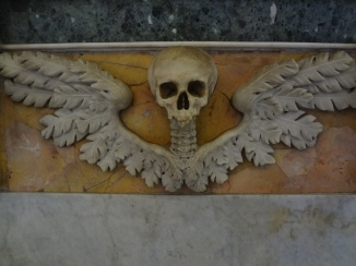 Skull with angel wings...
