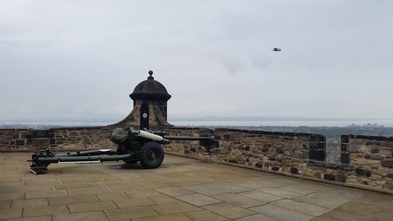 One o'Clock Gun (Side view) with Bird