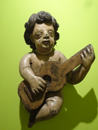 Anjo (Angel) Musician taken from a church or chapel, PORTUGAL.