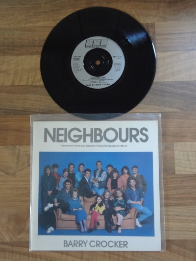 Barry Crocker Neighbours 7 Inch Vinyl