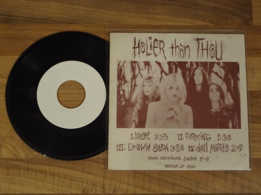 Hole - Holier than Thou 7 Inch Vinyl. Back Sleeve.