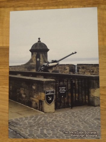 Design 2: The One o'Clock Gun-shot, Edinburgh, Scotland. Notice bottom right is labeled.