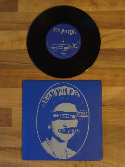 The Sex Pistols, God Save the Queen 7 Inch Vinyl Record.