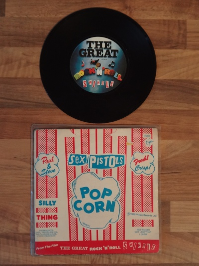 The Sex Pistols, Pop Corn 7 Inch Vinyl Record.