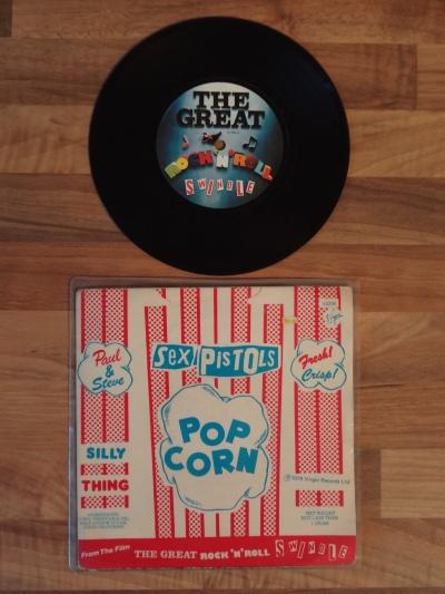 The Sex Pistols, Pop Corn 7 Inch Vinyl Record.