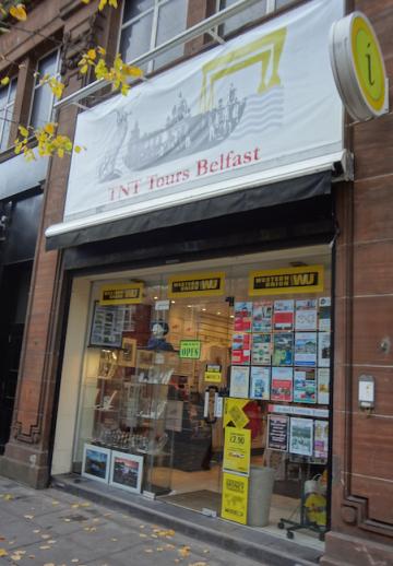 TNT Tours is located on 48 Howard Street, Belfast.