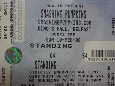 The Smashing Pumpkins, 10th February 2008. The King's Hall, Belfast.