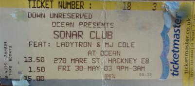 Squarepusher, Ladytron at the Sonar Club. 30th May 2003, Hackney, London.