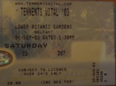 Tennents Vital, September 2003. Botanic Gardens.