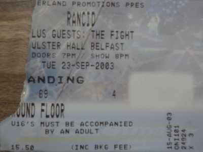 Rancid, 23rd September 2015, The Ulster Hall.