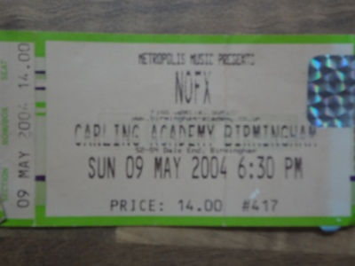 NOFX, 09th May 2004, Carling Academy, Birmingham.