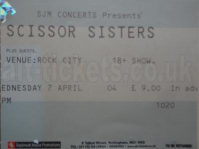 Scissor Sisters, 7th April 2004. Nottingham Rock City.