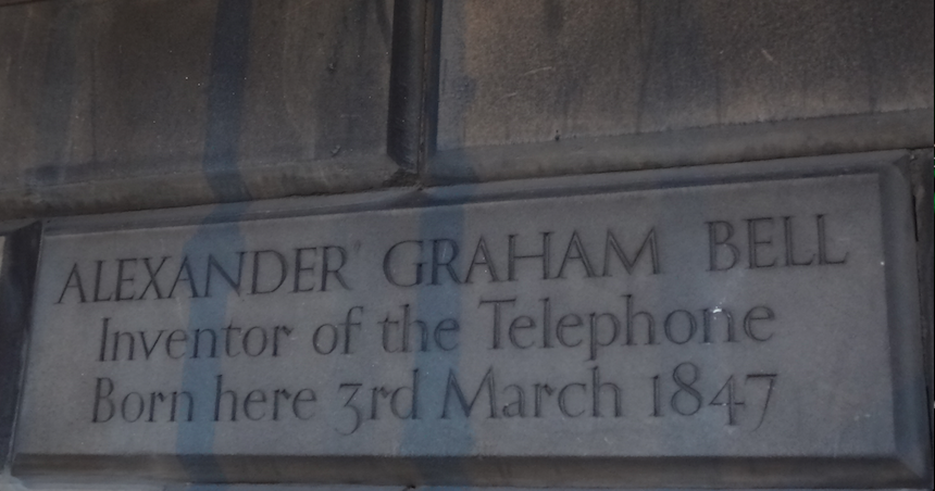 Alexander Graham Bell, Born at 16 Charlotte Square, Edinburgh.