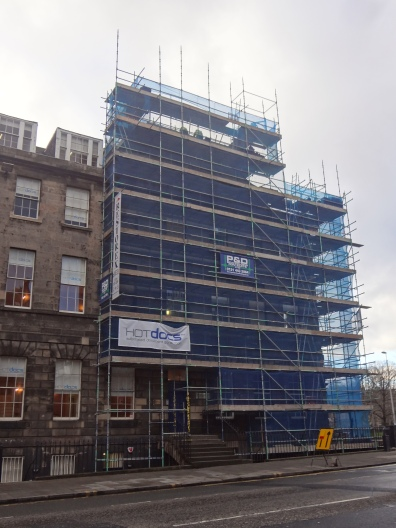 Alexander Graham Bell's birthplace, 16 Charlotte Square, Edinburgh. Currently under construction ~ Feb 2016.