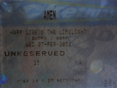 Amen, The Limelight, Belfast, N.Ireland. 7th February 2001.
