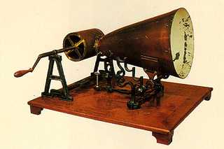 Leon Scott's Phonautograph from Smithsonian Institution.