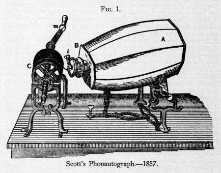 Leon Scott's phonautograph, 1857.