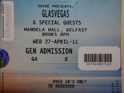 Glasvegas, 27th April 2011, Mandela Hall, Belfast, N.Ireland.