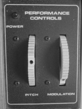 Performance Controls : Pitch and Modulation