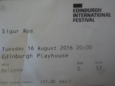 Sigur Rós, Edinburgh Playhouse, 16.08.16.