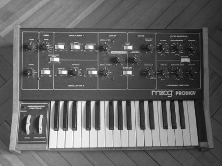 The Moog Prodigy.