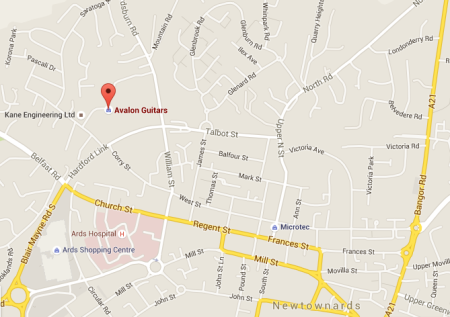 Avalon Guitars, 8 Glenford Way, Newtownards, County Down, Northern Ireland. ~Google Maps ~