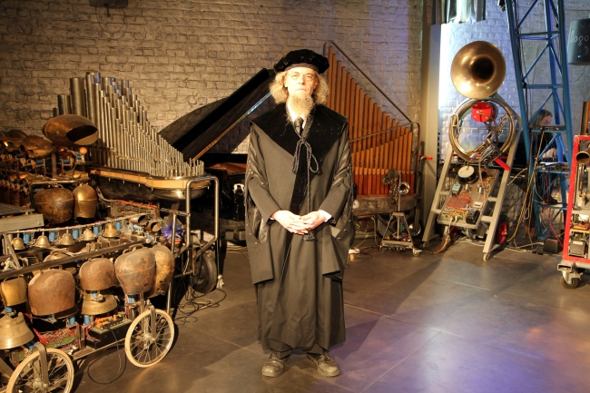 Dr. Godfried-Willem Raes. Professor, Composer, music maker and President of the Logos Foundation and general director of the Logos M&M ensemble.