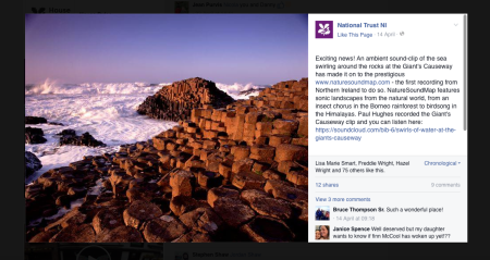 National Trust Facebook Page.