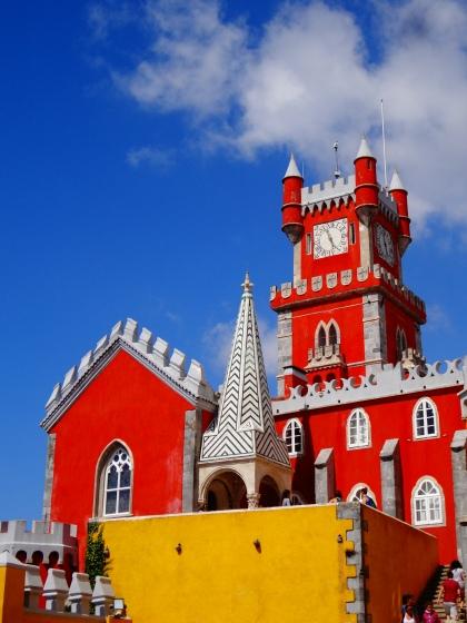 The Pena Palace Castle, Sintra, Portugal. Architecture by Baron Wilhelm Ludwig von Eschwege.
