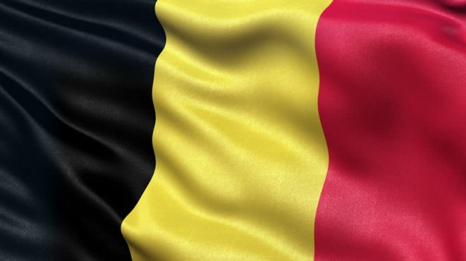 Belgium vertical tricolour flag colours are black, yellow and red. The flag colours were taken from the coat of arms of the Duchy of Brabant.