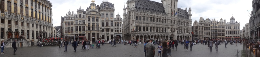 The Grand Place, Brussels, A Panaramic View.