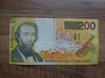 In 2002, Belgium was one of the twelve countries that introduced the euro banknotes and coins. Prior to the Euro bank notes, Belgian Artists like Adolphe Sax appeared on the 200 Franc Bank note.
