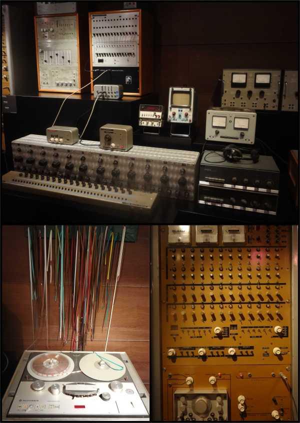 The IPEM Studio, 1962. Polyfonium, Tape. 1975. Lucien Goethais.